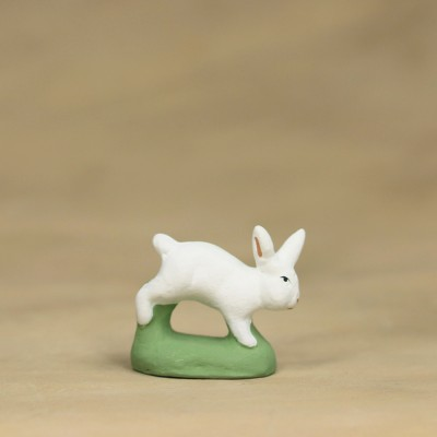 Lapin courant blanc 6 cm