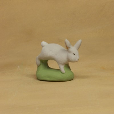 Lapin courant  gris 9 cm